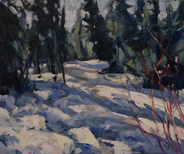 Bush Scene SOLD - Halin de Repentigny - painting