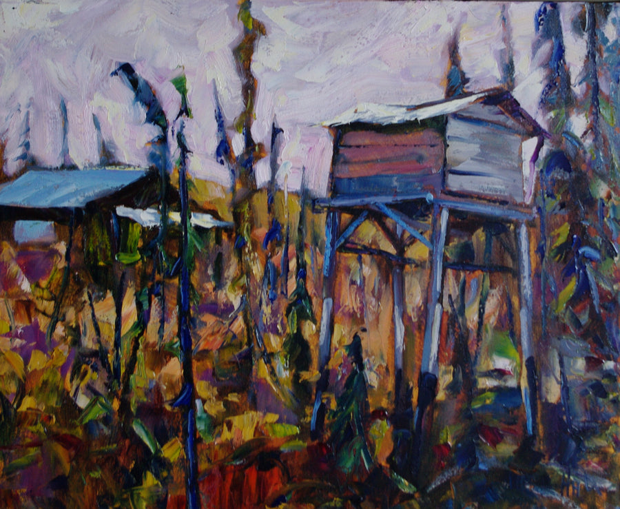 Cabin at 15 Mile SOLD - Halin de Repentigny - painting