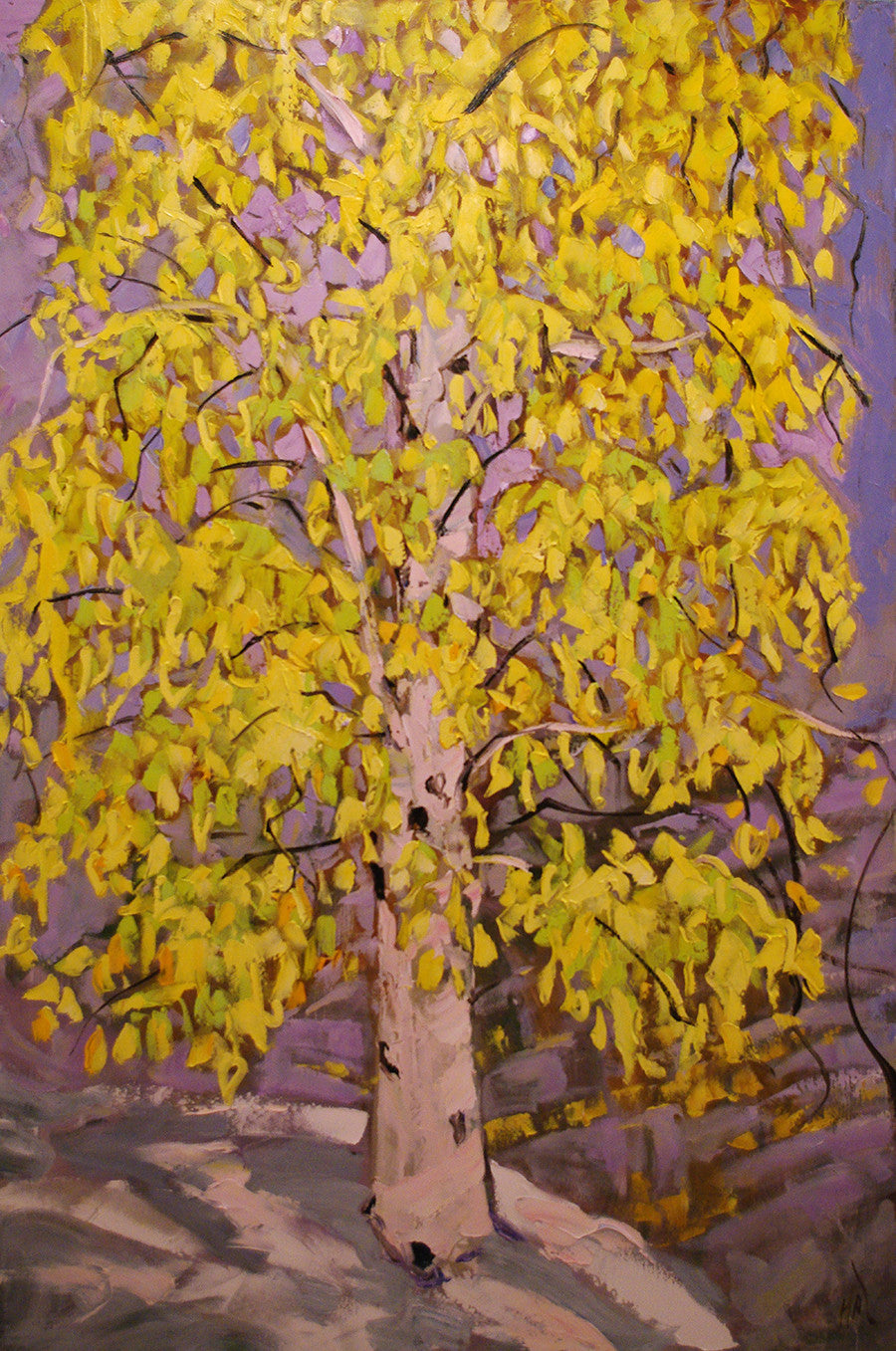 Cadmium Birch - Halin de Repentigny - painting