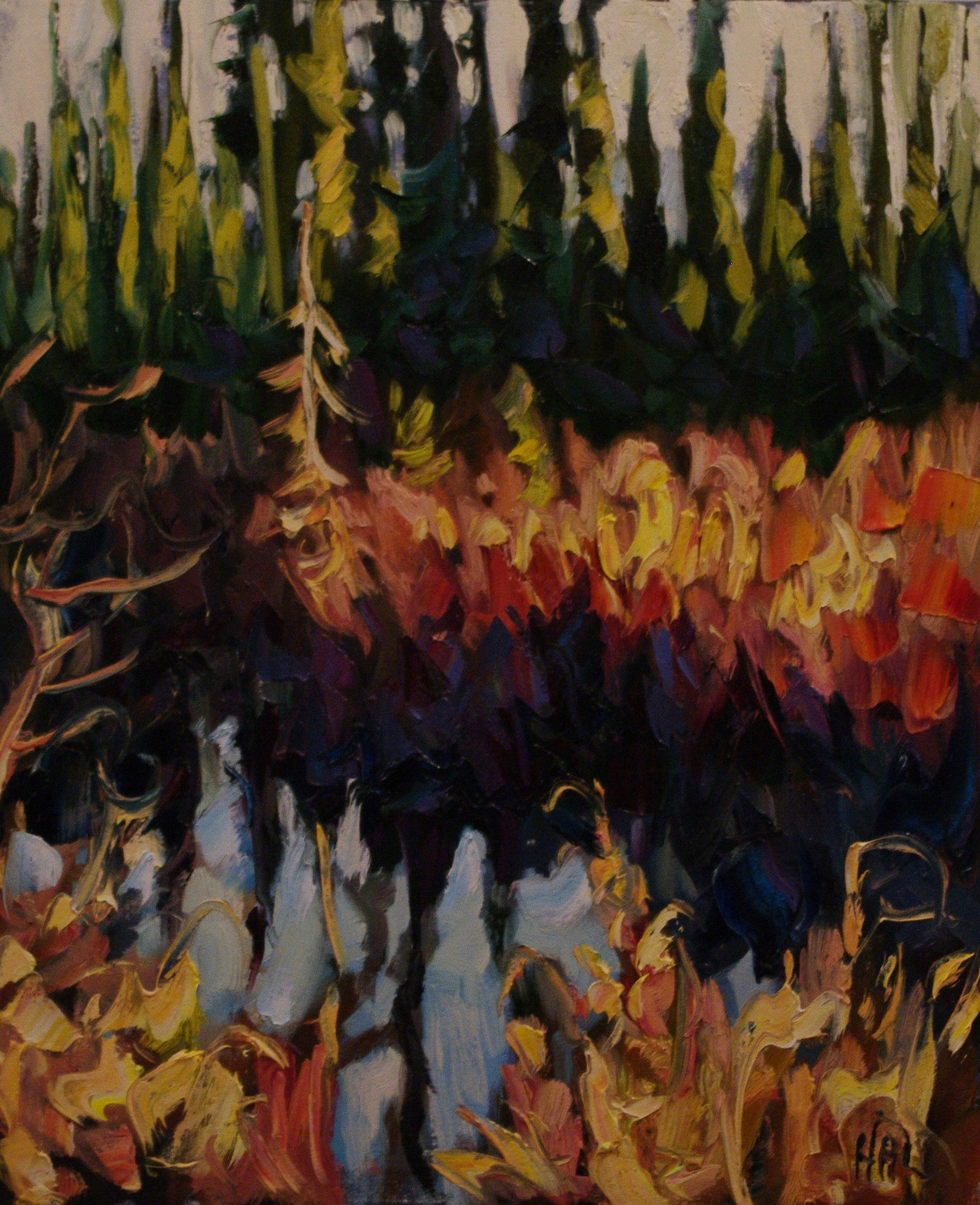 Christmas Spruce - SOLD - Halin de Repentigny - painting