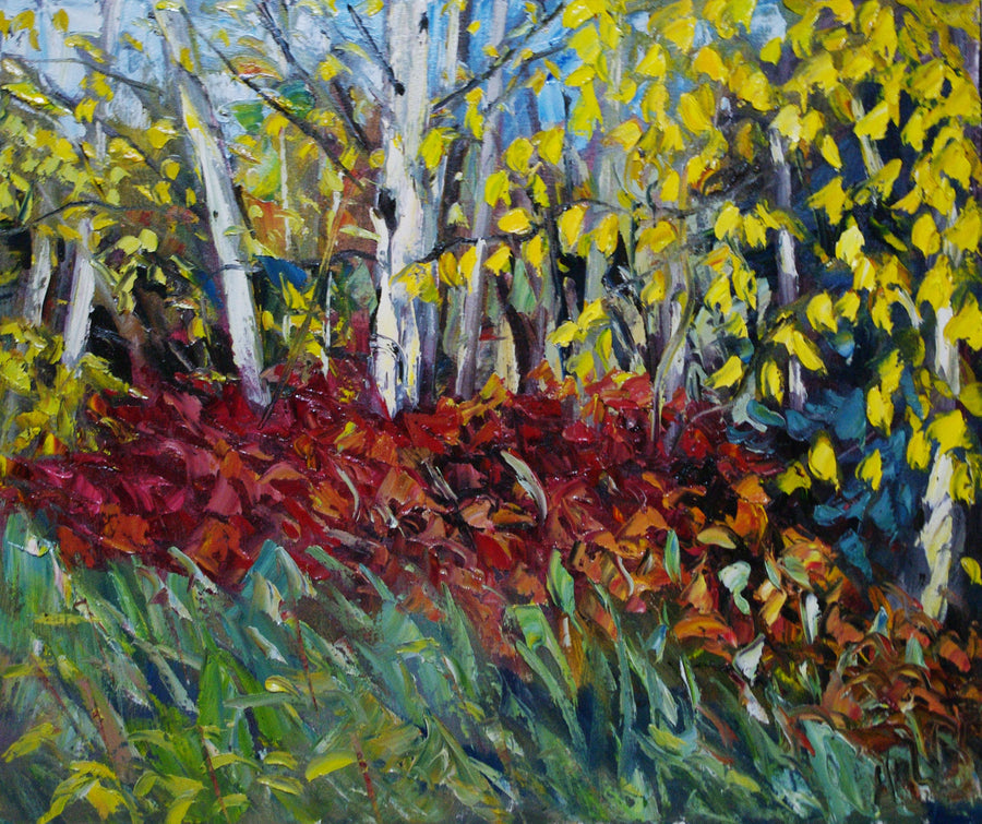 Crimson Shadow - Halin de Repentigny - painting