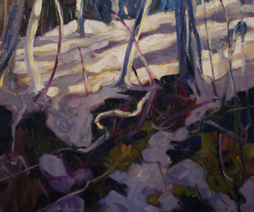 Crocus Bluff - Halin de Repentigny - painting
