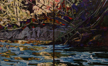 Cut Bank #2 - Halin de Repentigny - painting