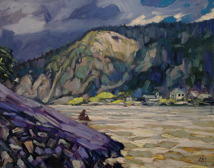 Dawson Slide - Halin de Repentigny - painting