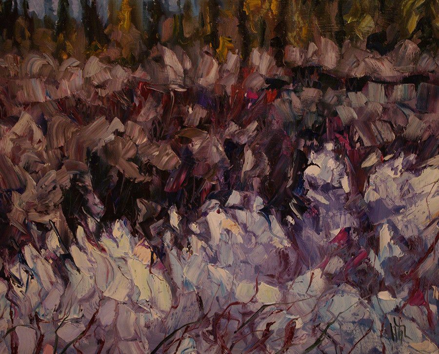 Dead Willow Pond - Halin de Repentigny - painting