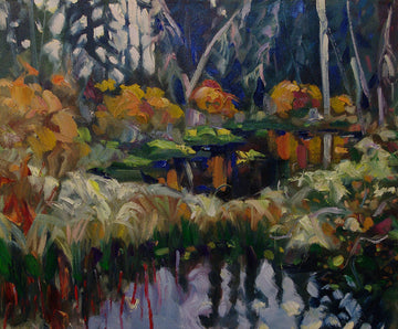 Diamond Pond - Halin de Repentigny - painting