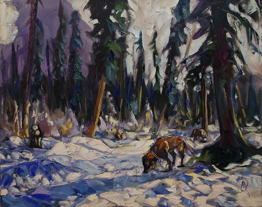 Dogs Yard - Halin de Repentigny - painting