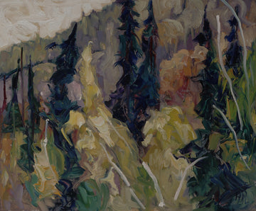 Dying Yellow - Halin de Repentigny - painting