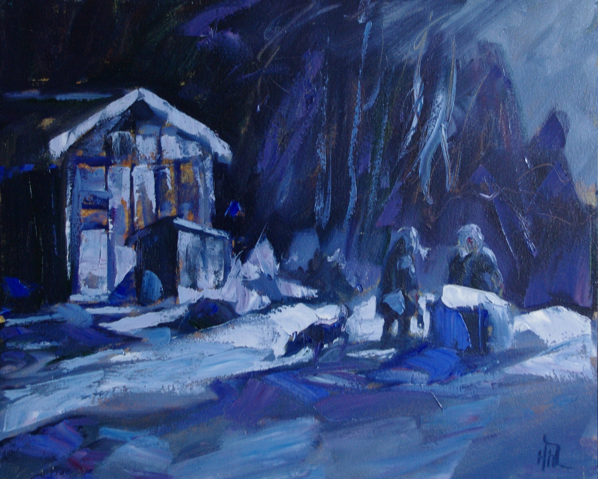 Encounter 2nd Avenue - Halin de Repentigny - painting