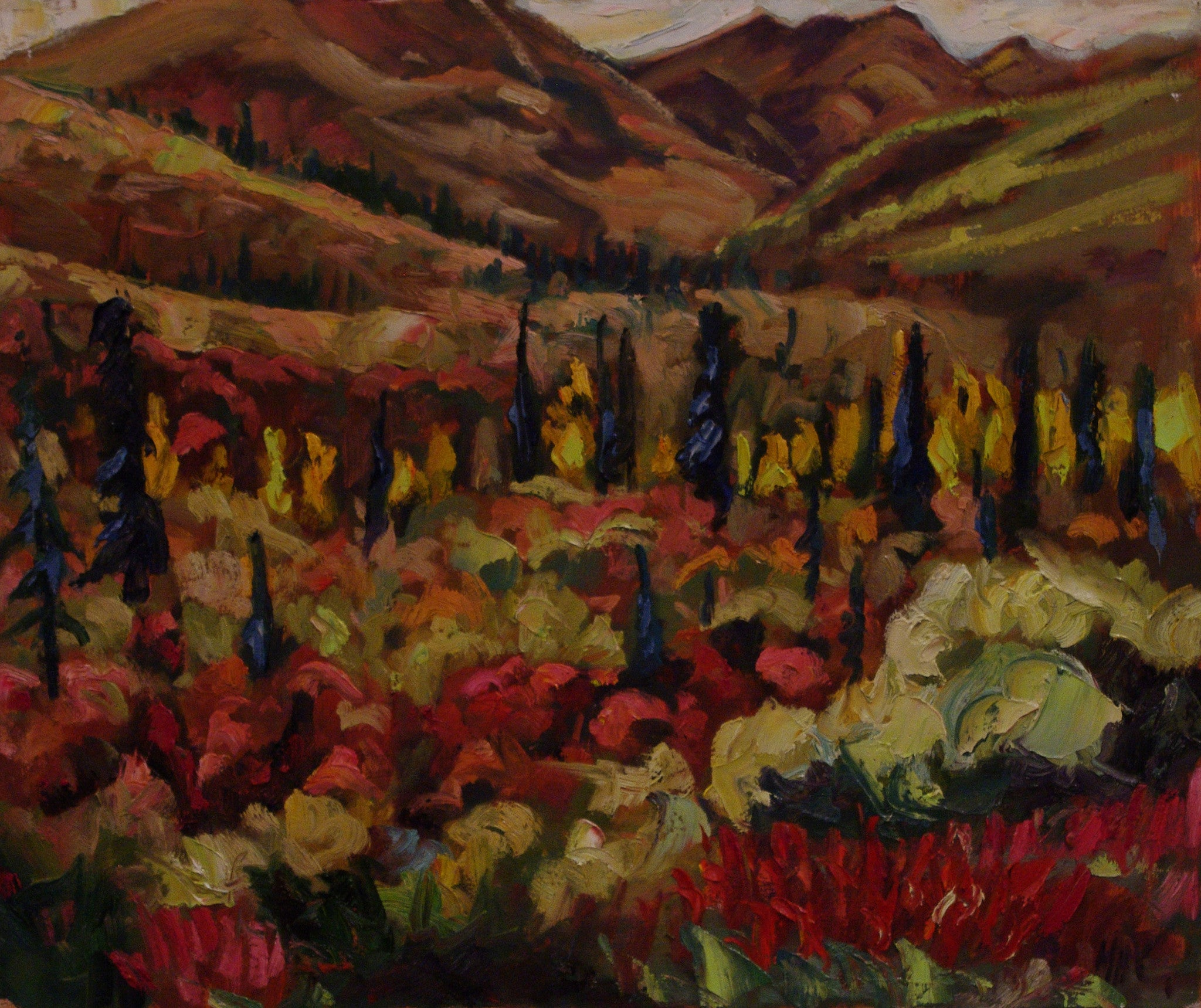 Fall Color - SOLD - Halin de Repentigny - painting