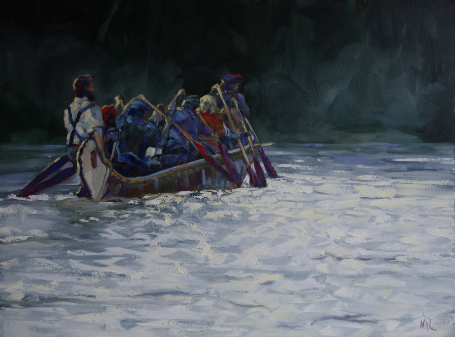 Fast Water Evening SOLD - Halin de Repentigny - painting