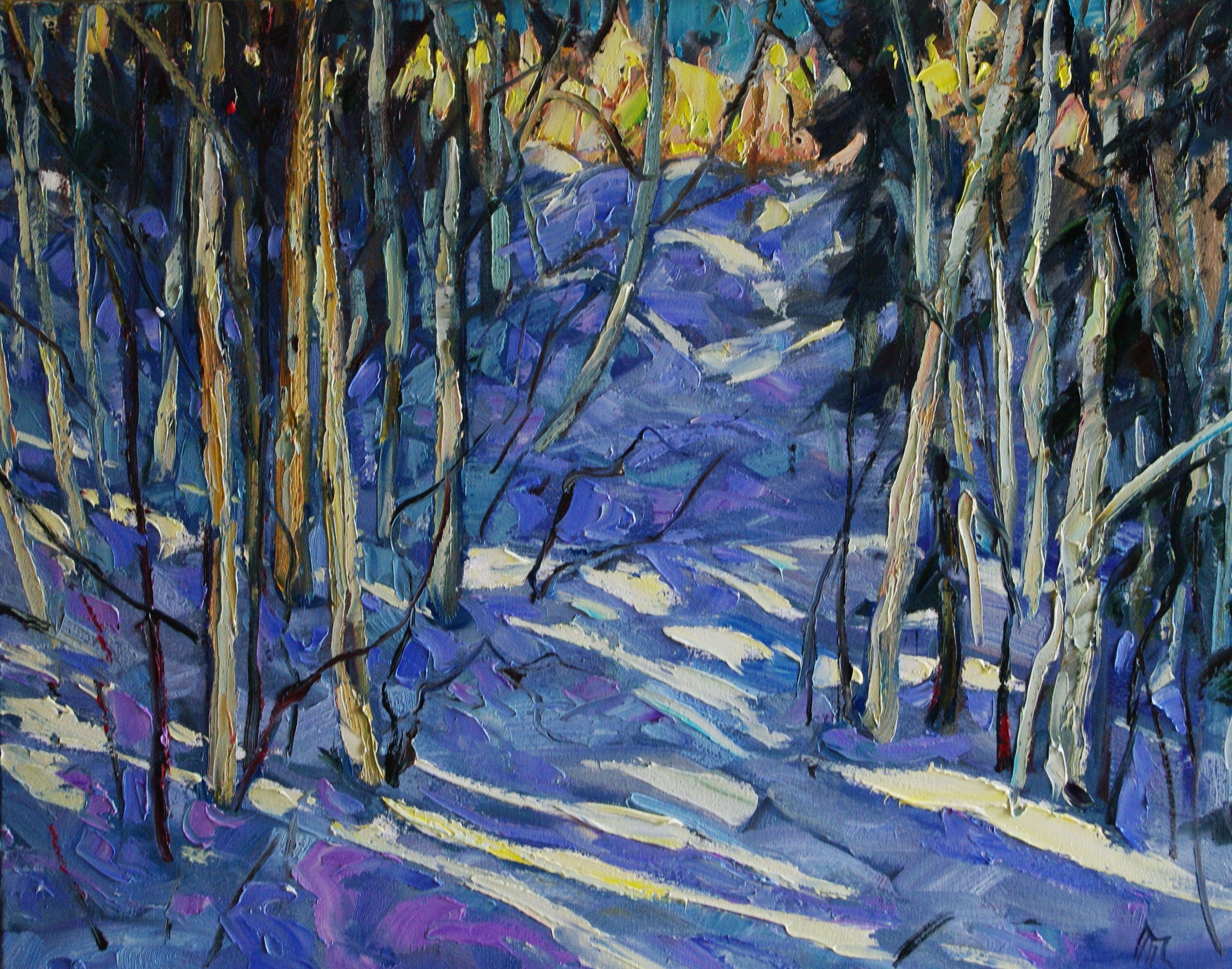 Flaming Hill SOLD - Halin de Repentigny - painting