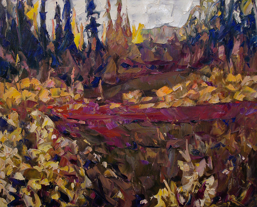 Flat Creek - Halin de Repentigny - painting