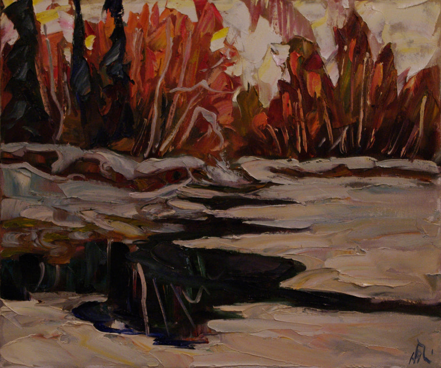 Freeze Up 60 Mile SOLD - Halin de Repentigny - painting