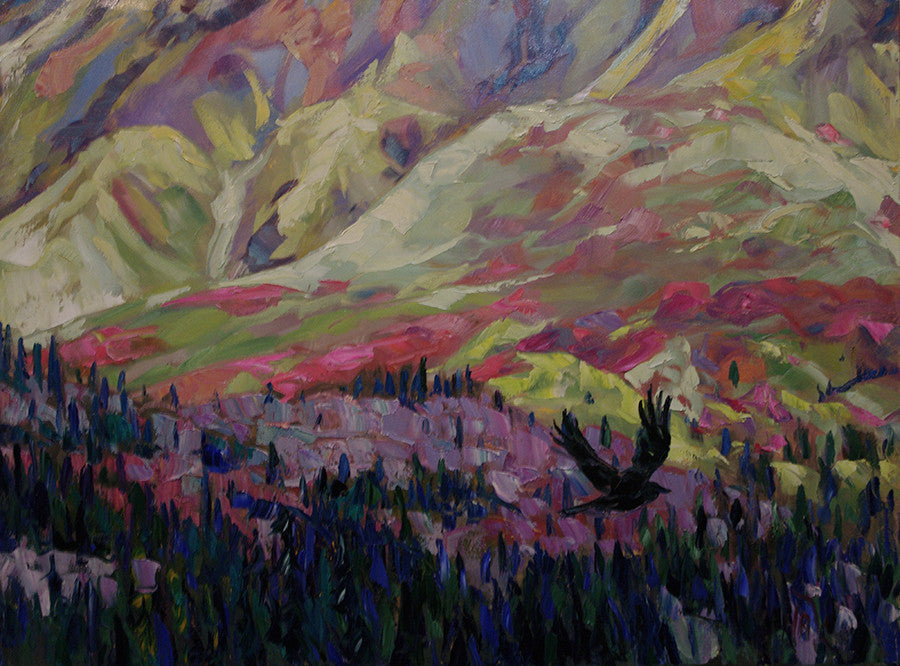 Glacier Creek - Halin de Repentigny - painting