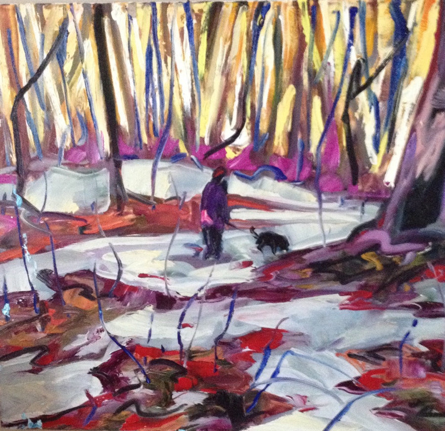 Hardwood Forest - Halin de Repentigny - painting