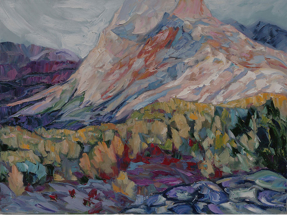 Hill on the Dempster - Halin de Repentigny - painting