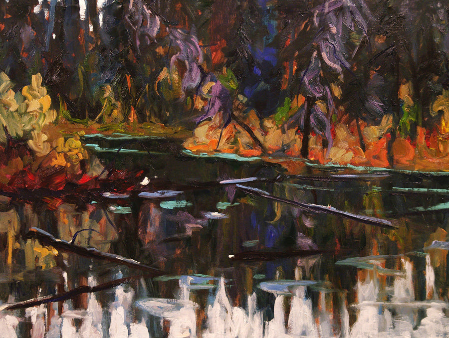 Purple Spruce SOLD - Halin de Repentigny - painting