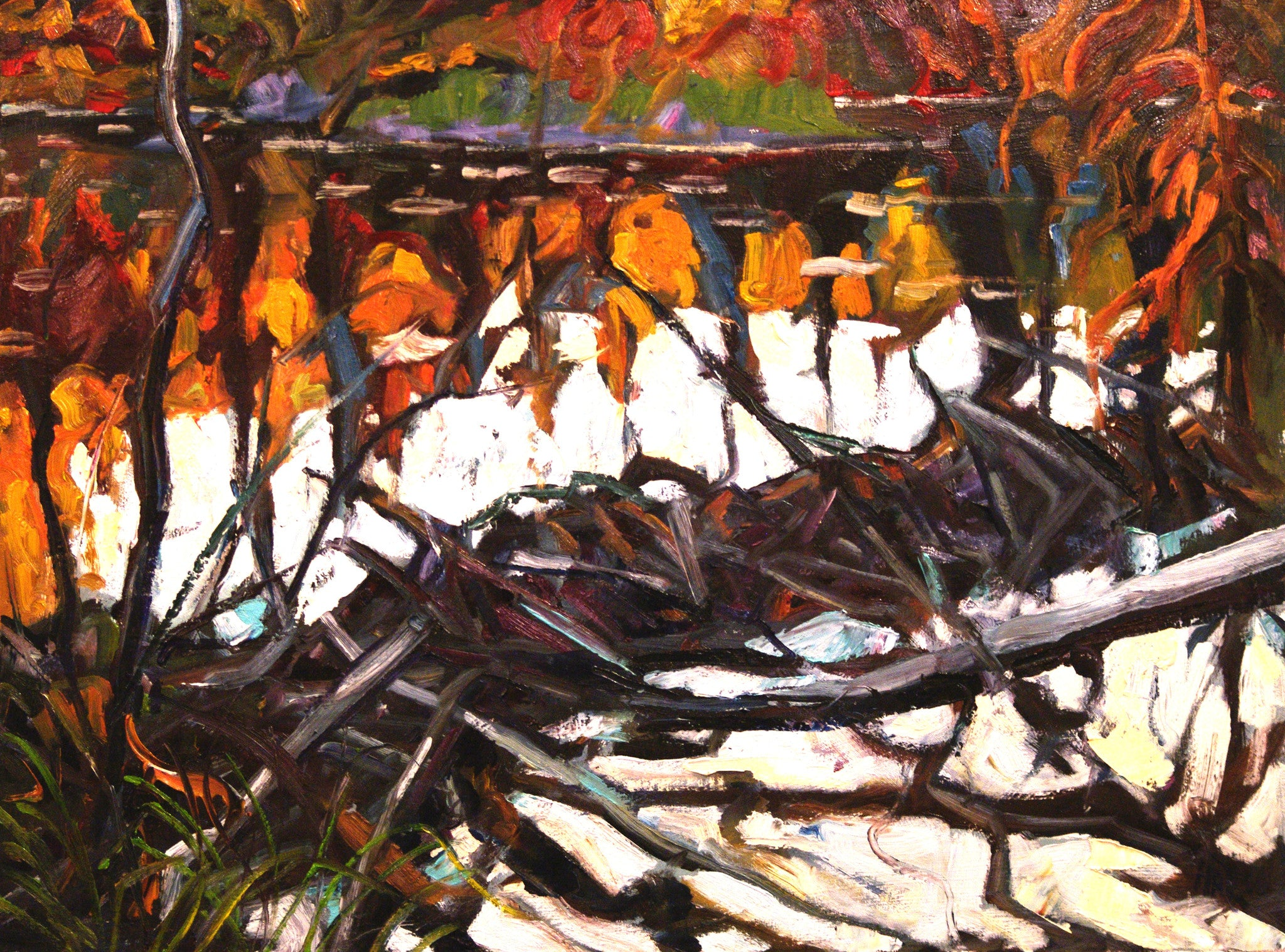 Beaver Dam Ray Creek - Halin de Repentigny - painting