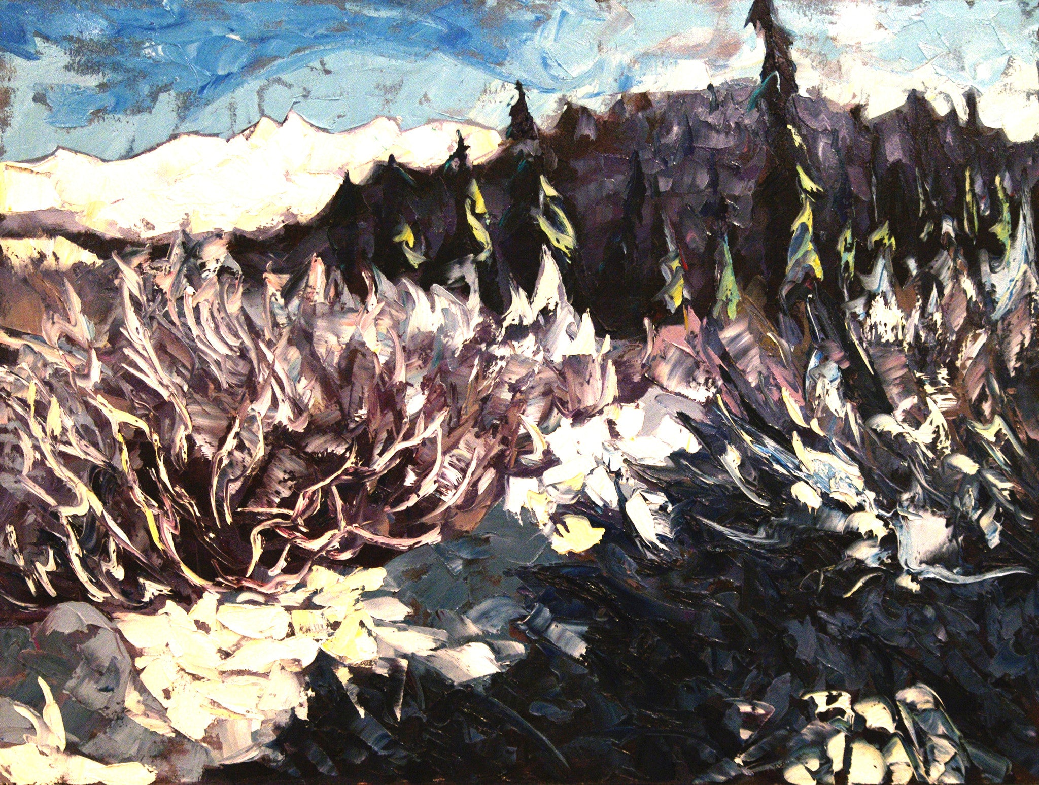 Blue Frost SOLD - Halin de Repentigny - painting