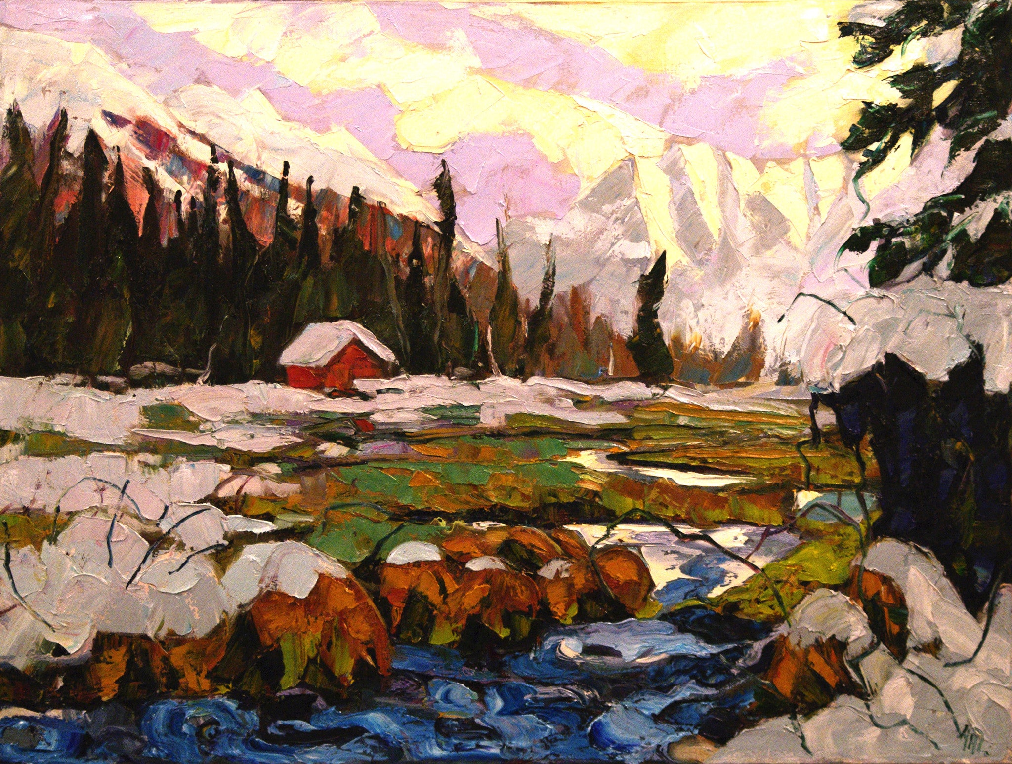 Hot Spring SOLD - Halin de Repentigny - painting