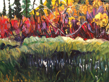 Buck Brush - Halin de Repentigny - painting