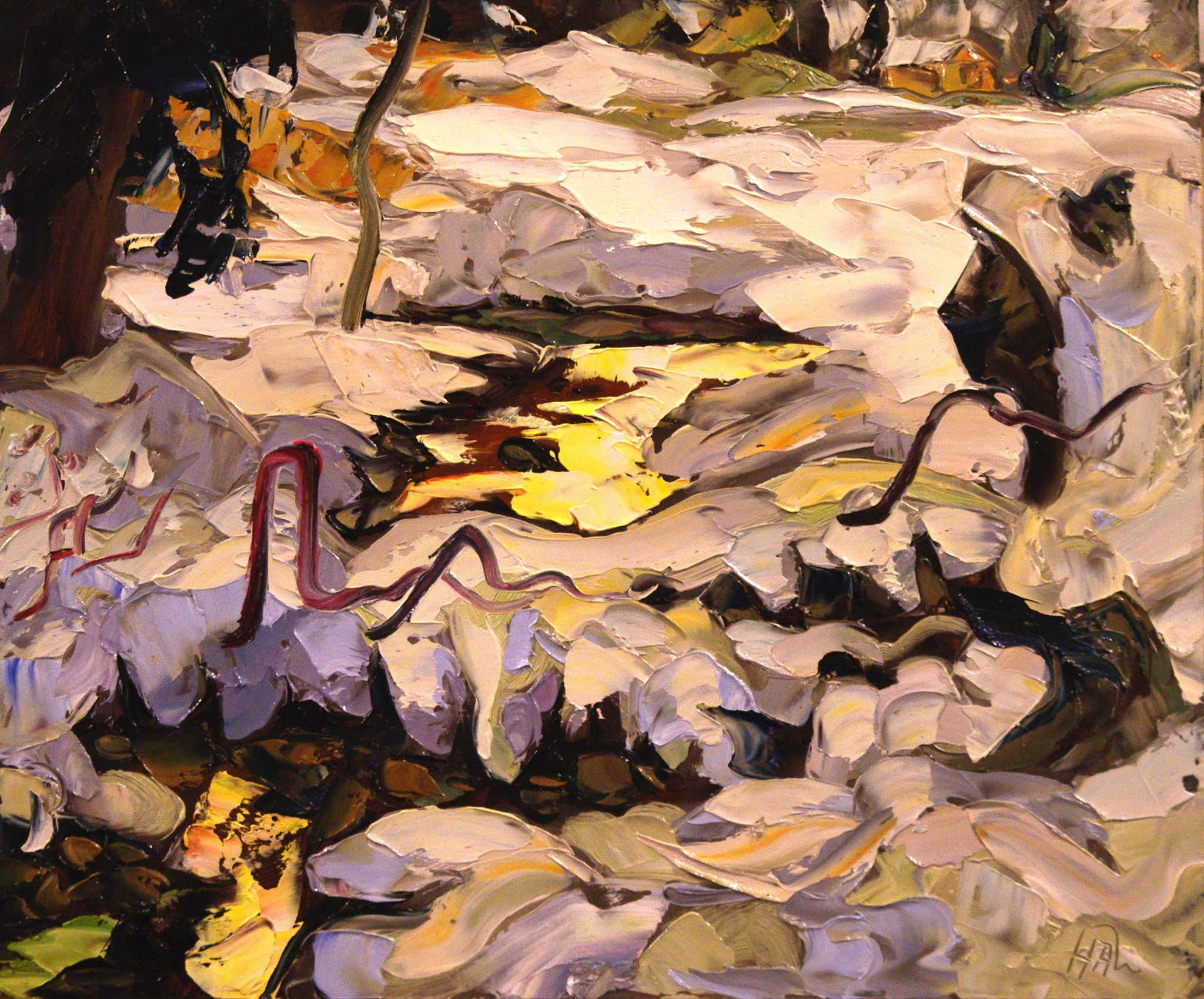 Reflection Hot Spring - Halin de Repentigny - painting
