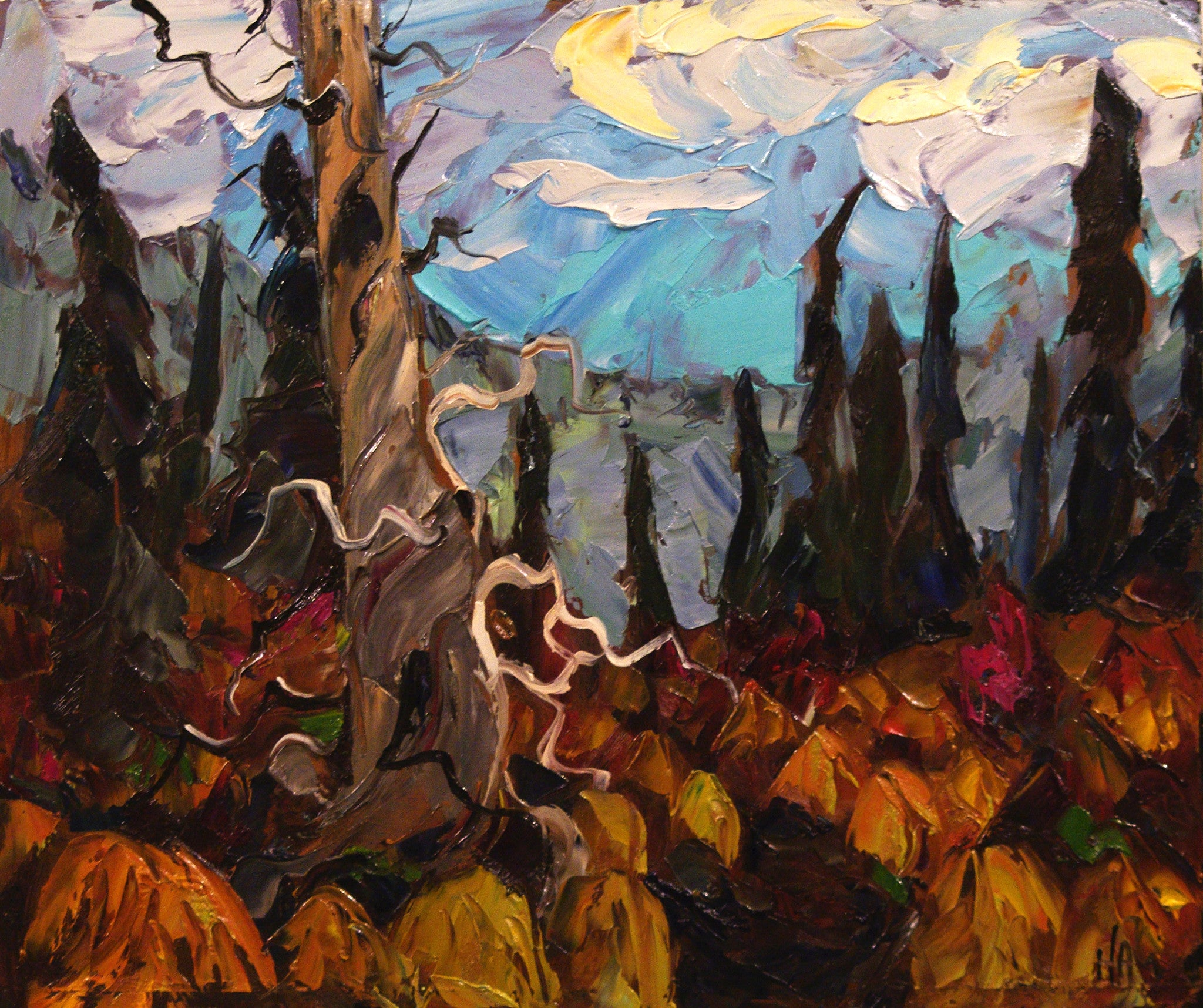 Dry Black Spruce - Halin de Repentigny - painting