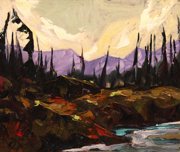 West Hart River SOLD - Halin de Repentigny - painting