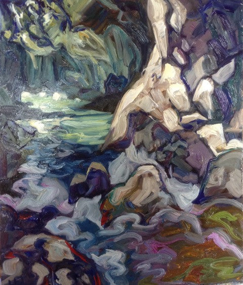 Gorge - Halin de Repentigny - painting