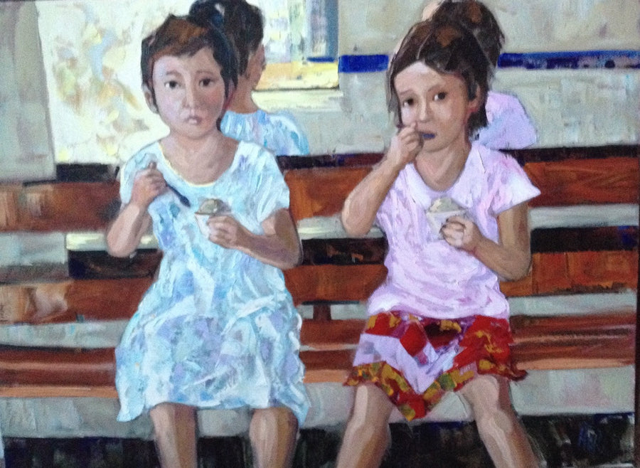 Ice Cream Sisters SOLD - Halin de Repentigny - painting