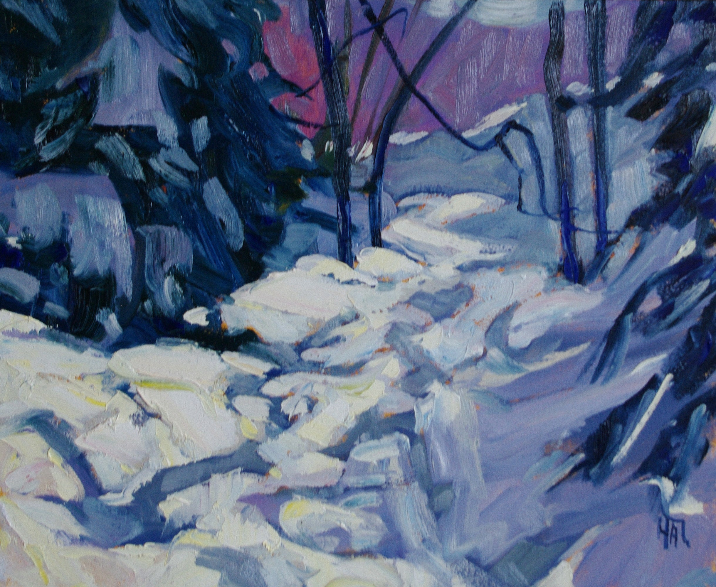 January Light - Halin de Repentigny - painting