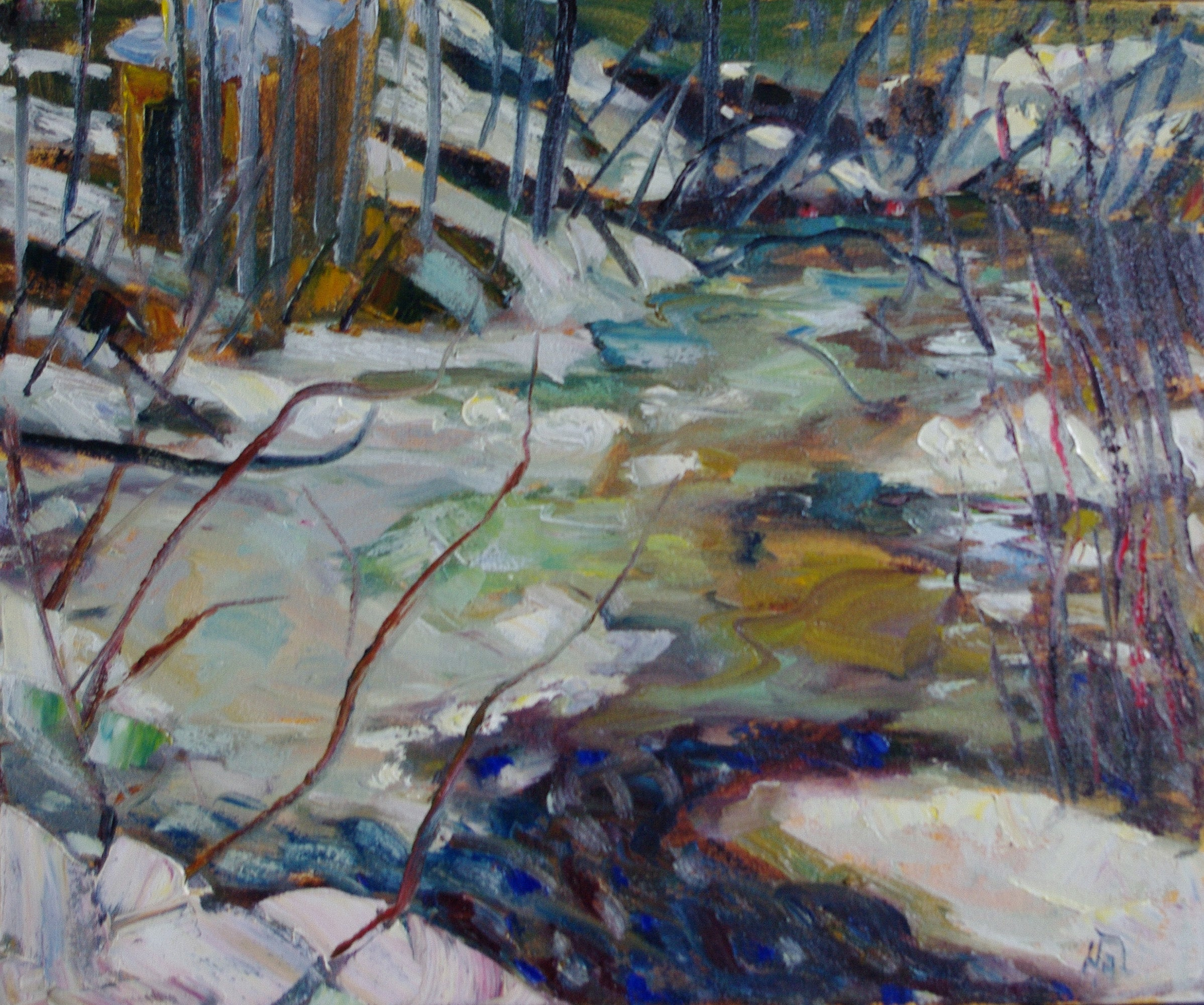 Lee Creek - Halin de Repentigny - painting