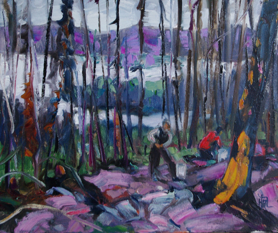 Morel Picker - Halin de Repentigny - painting