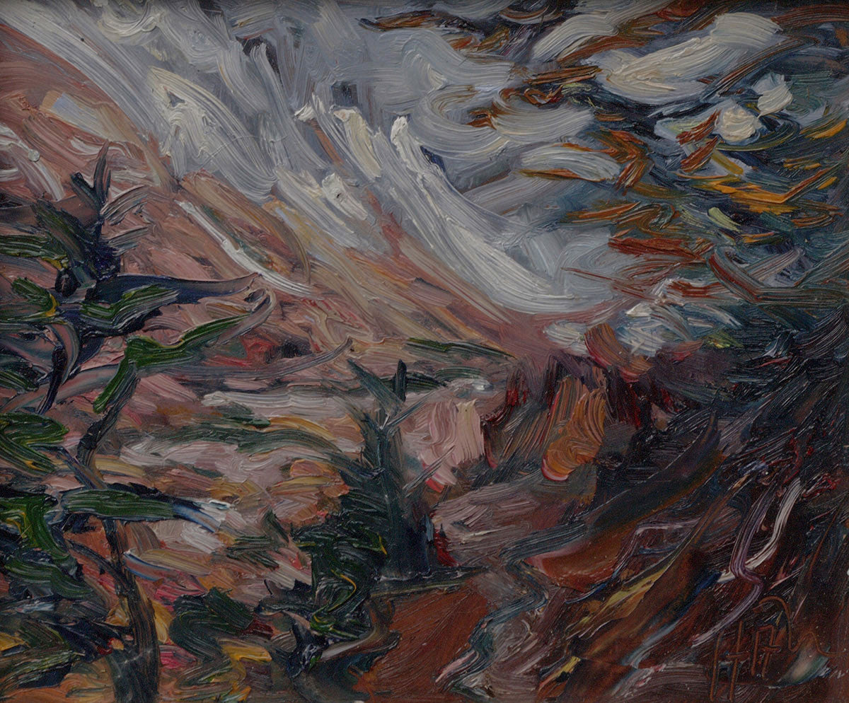 Mountain Pass SOLD - Halin de Repentigny - Paintings