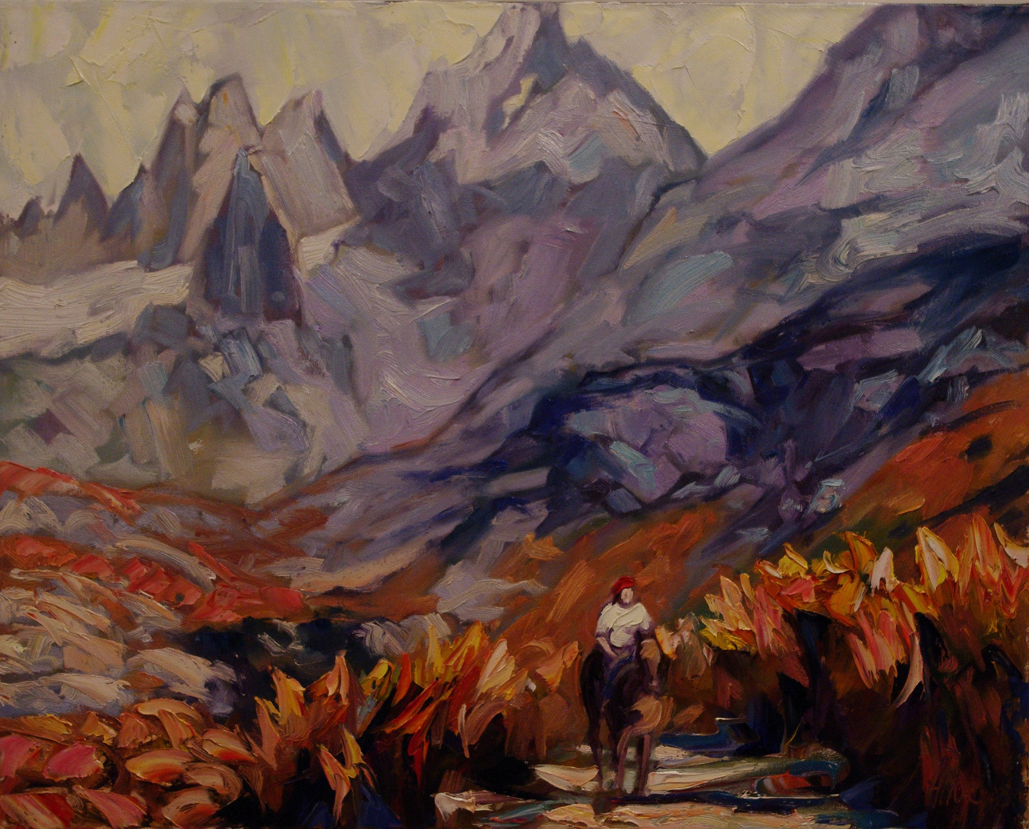 Mountain Gaucho - Halin de Repentigny - painting