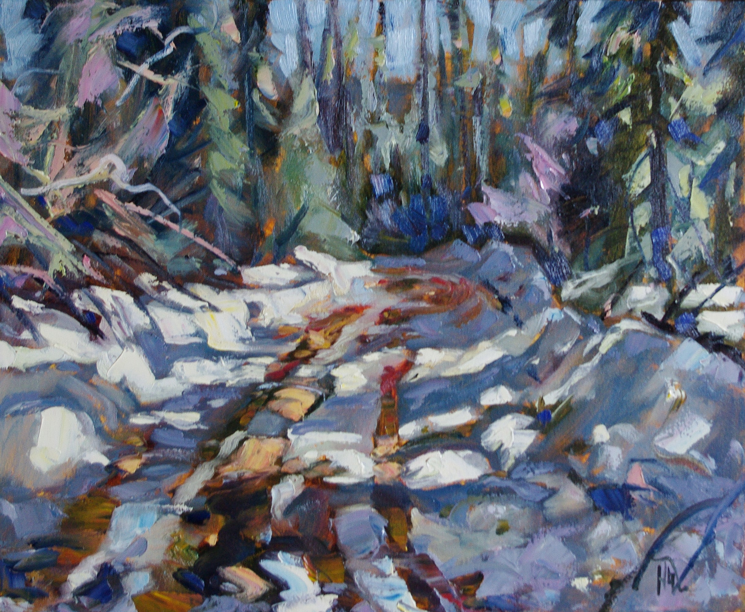 Mud and Snow - Halin de Repentigny - painting