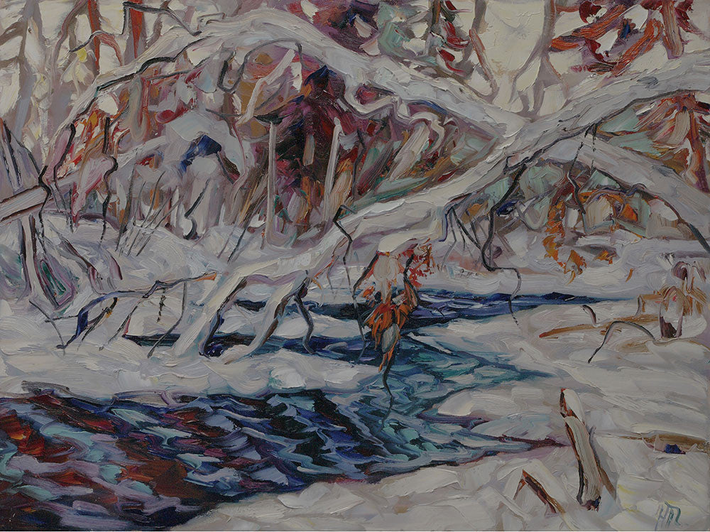 Northern Zig Zag - Halin de Repentigny - painting