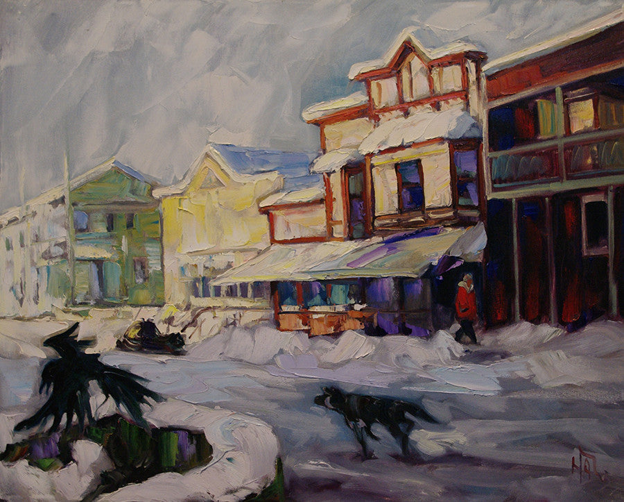 Oak Hall Winter SOLD - Halin de Repentigny - painting