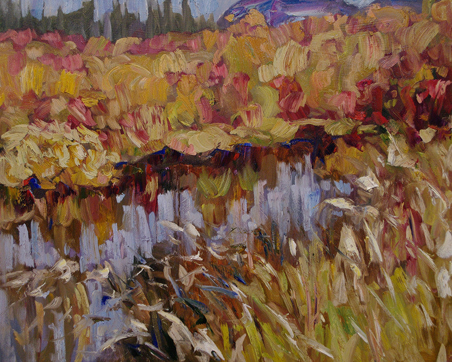 Ochre Flooding SOLD - Halin de Repentigny - painting