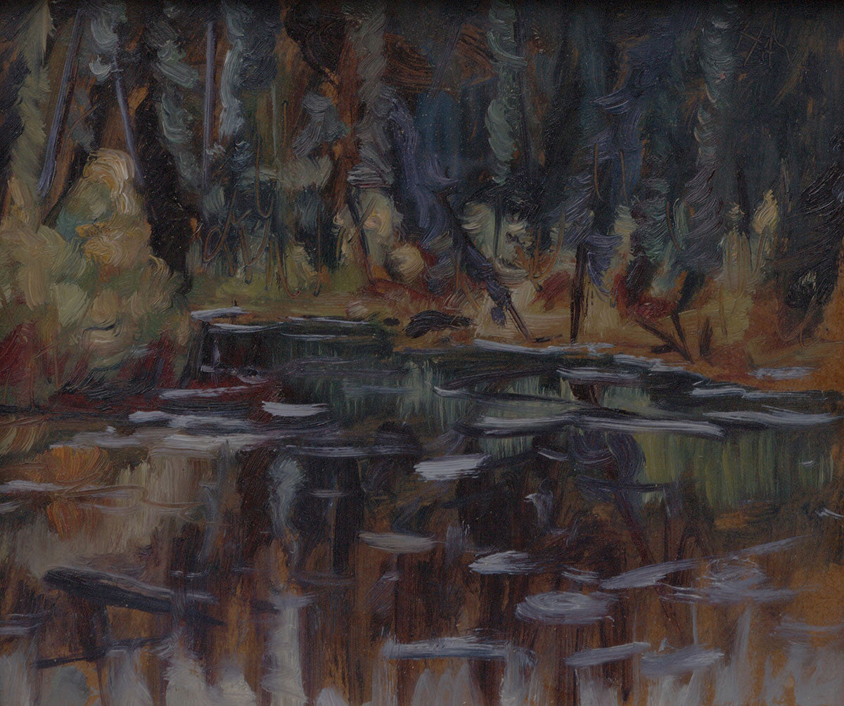 Pond Dempster - Halin de Repentigny - painting