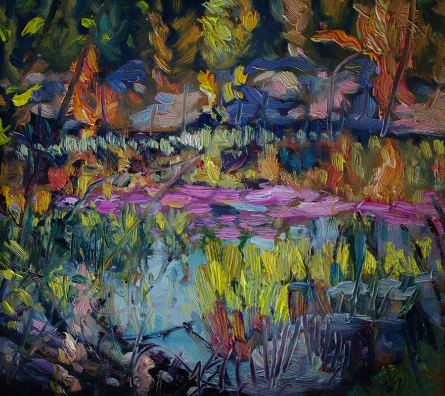 Purple Pond SOLD - Halin de Repentigny - painting