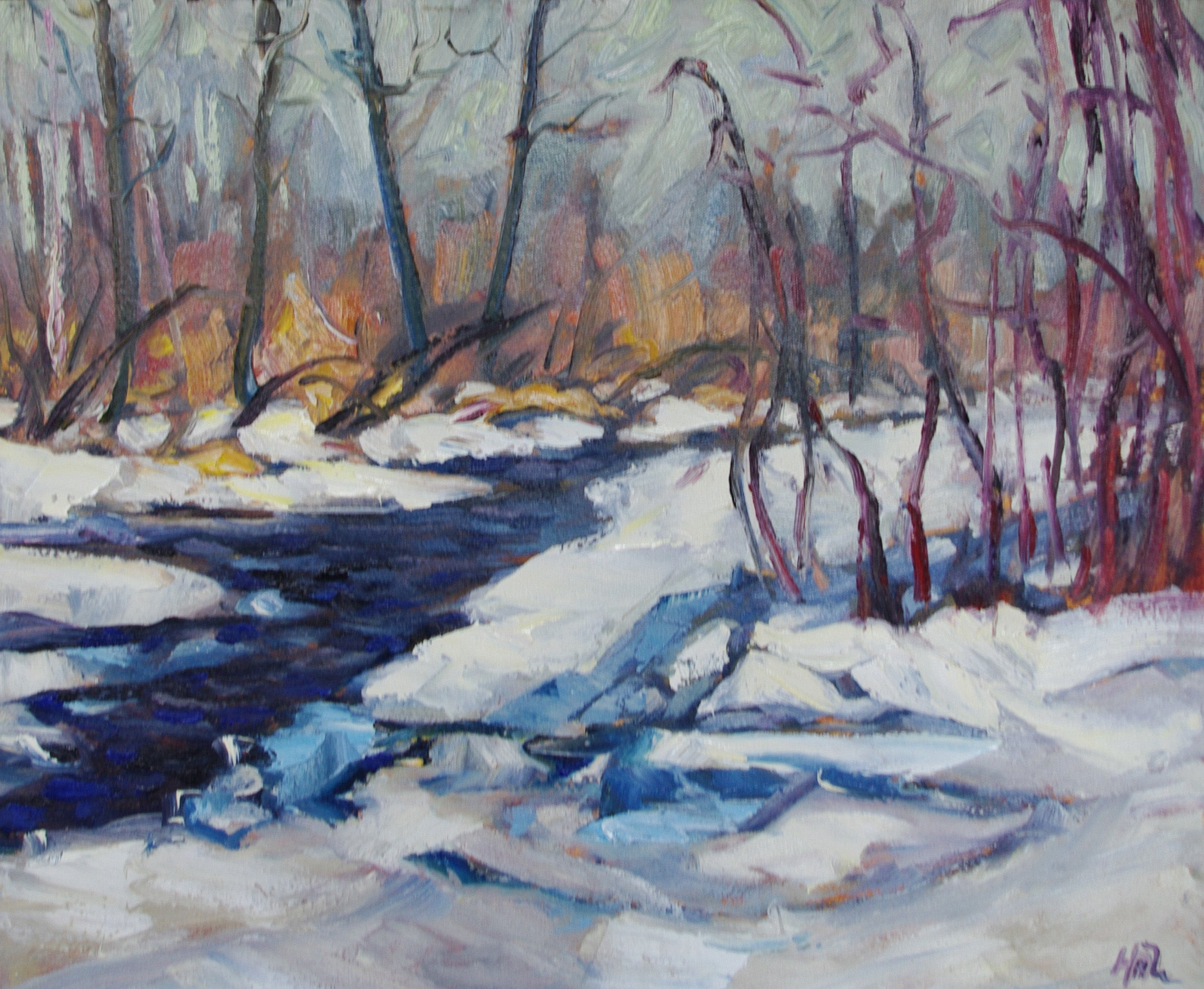 River Thaw - Halin de Repentigny - painting