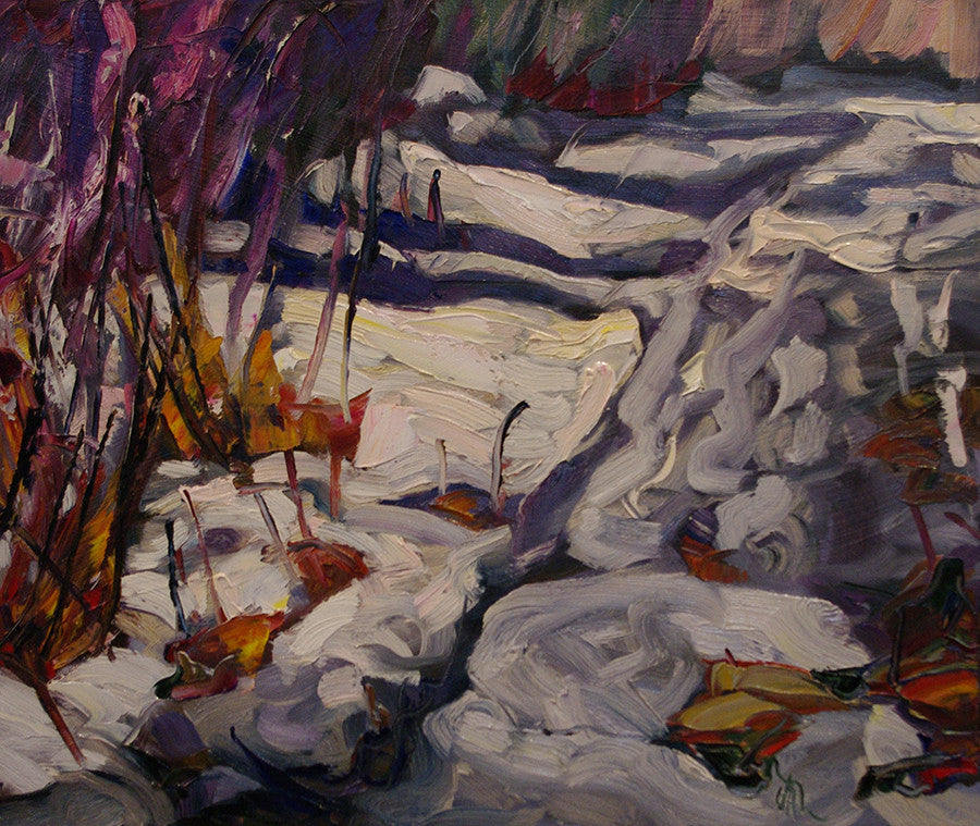 Side Trail SOLD - Halin de Repentigny - painting