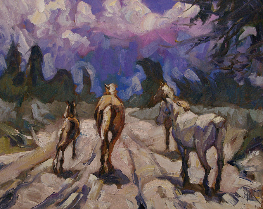 Storm Runners - Halin de Repentigny - painting