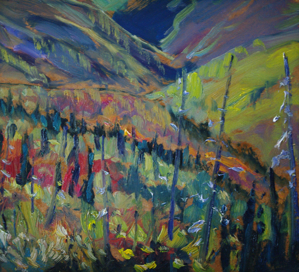 Stripe Hill SOLD - Halin de Repentigny - painting