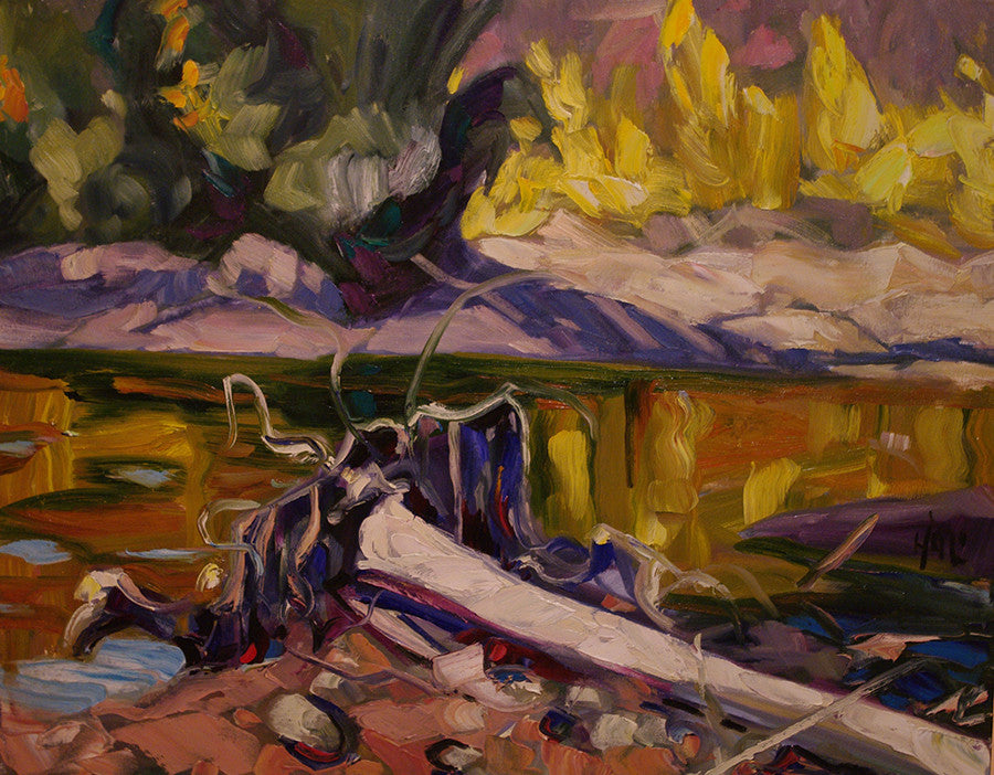 Swede Creek Stump - Halin de Repentigny - painting