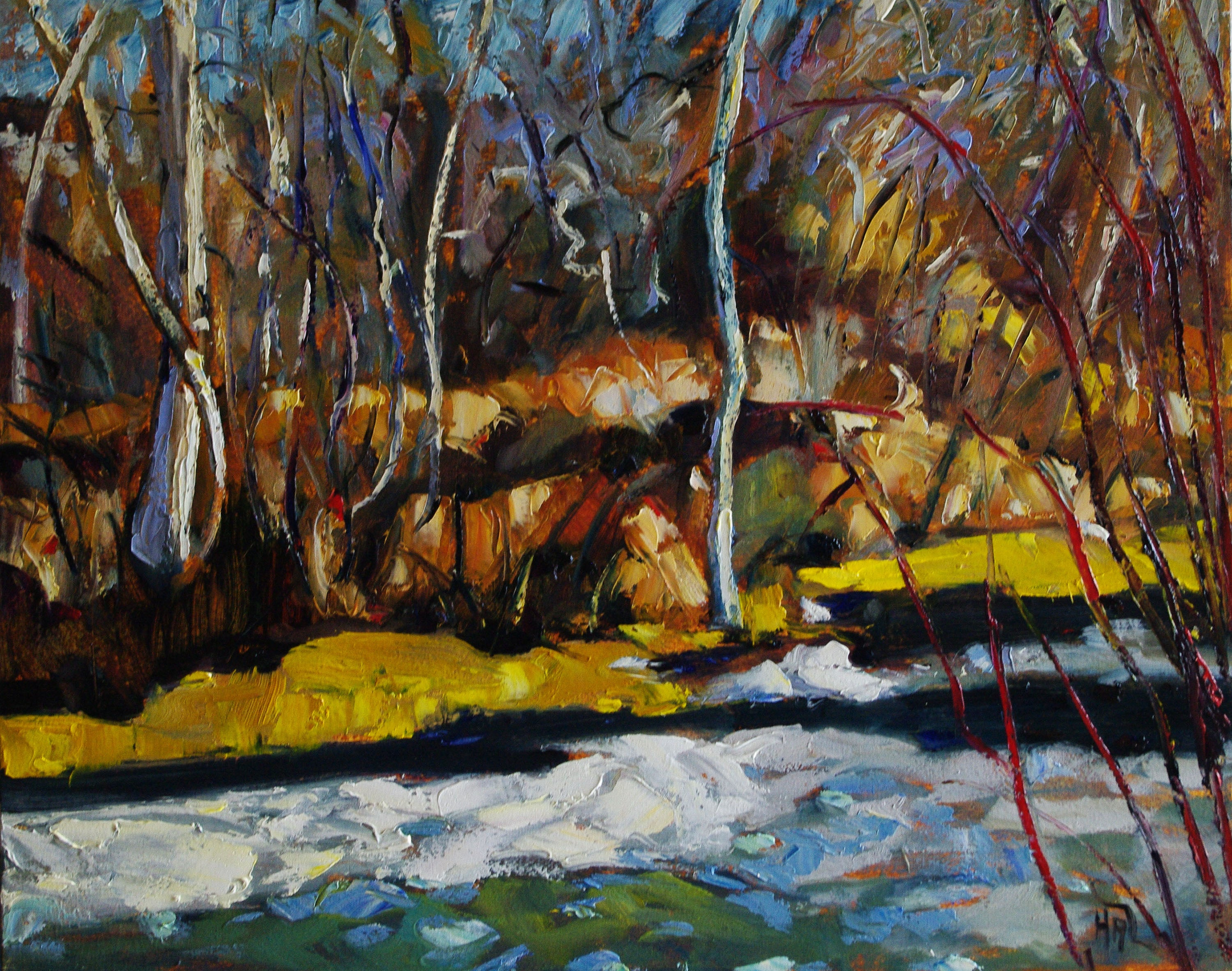 Telling Pond - Halin de Repentigny - painting