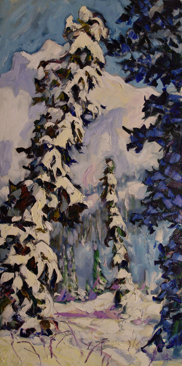 Three Spruce SOLD - Halin de Repentigny - painting