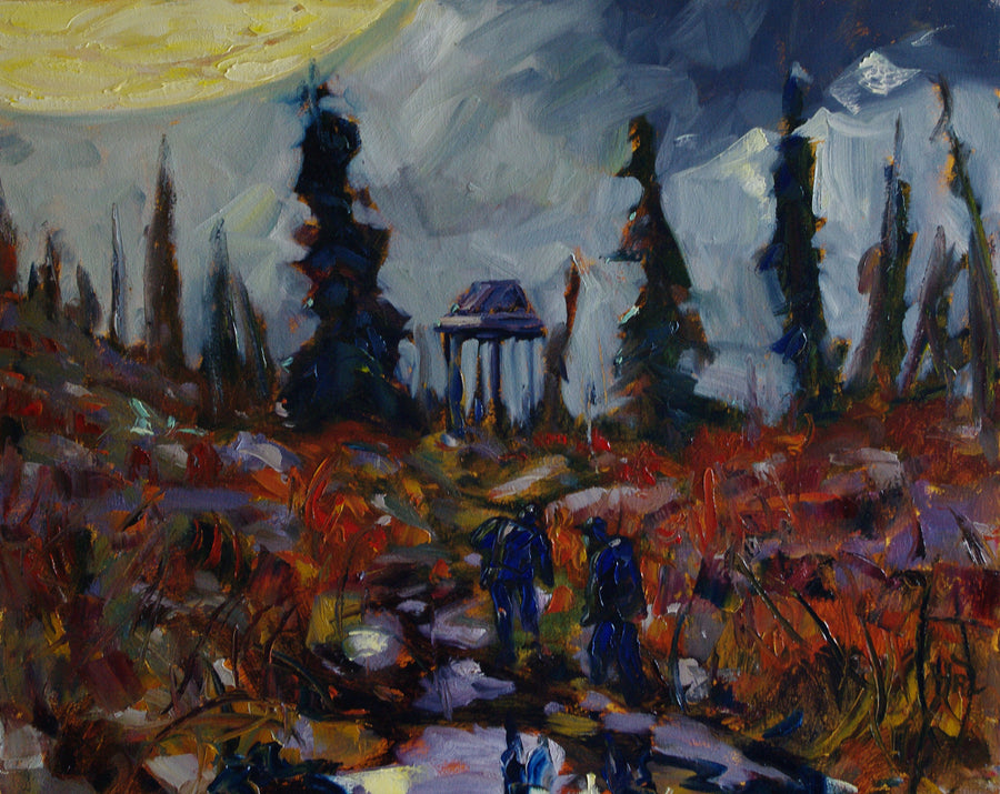 UFO Sighting Hart River - Halin de Repentigny - painting